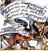 Augartengreif, Malerei: Raja Schwahn-Reichmann