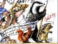 Protestierer, Malerei: Raja Schwahn-Reichmann