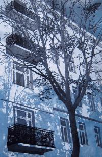 (c) Angelika Kreilinger: Stuwerviertel, Farbradierung, 70x50 cm